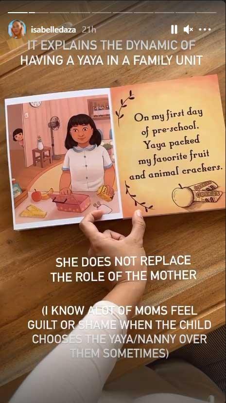 Isabelle Daza instagram post about her children's book for Yaya Luning