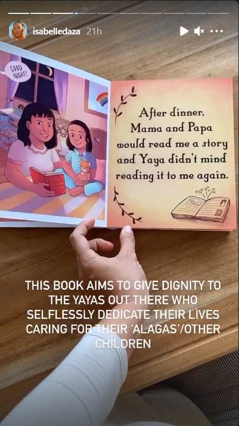 Isabelle Daza also dedicates the book to all selfless yayas