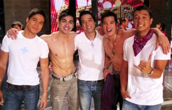 Johnny Manahan forms The Hunks in ASAP with Piolo Pascual, Carlo Agassi, Bernard Palanca, Diether Ocampo, Jericho Rosales