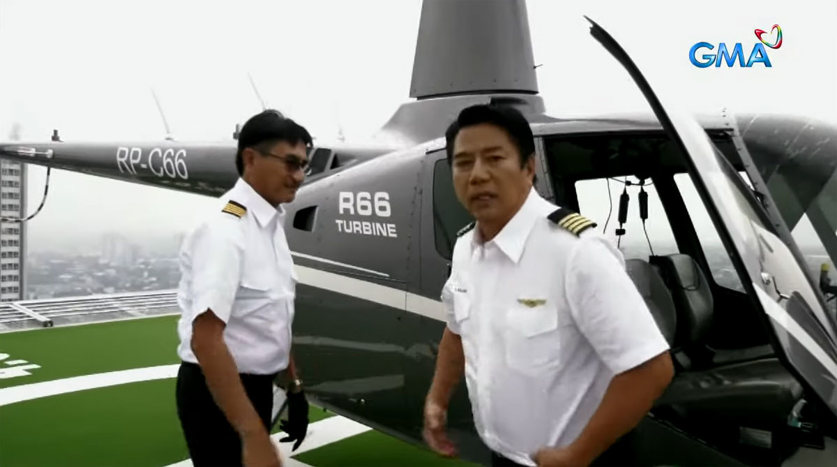 willie revillame wearing pilot uniform