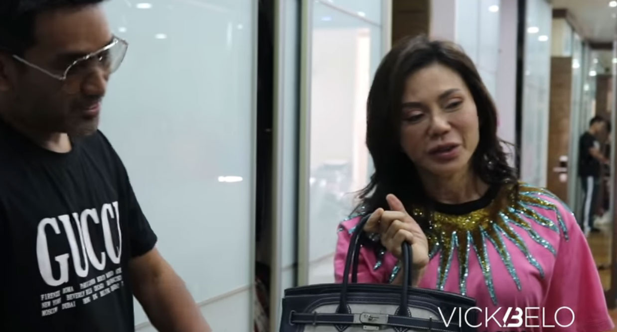 youtube screengrab: Vicki Belo Ghillies Birkin bags