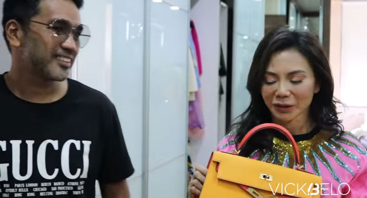 youtube screengrab: Vicki Belo kelly bags