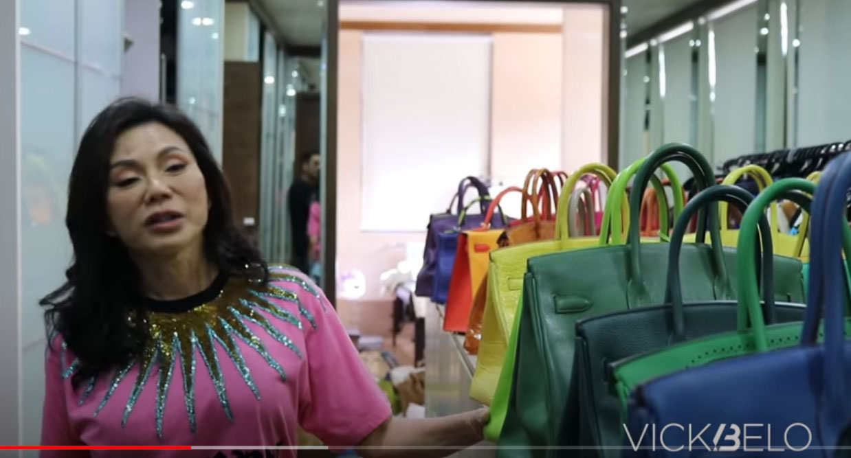 youtube screengrab: Vicki Belo Hermes bag collection