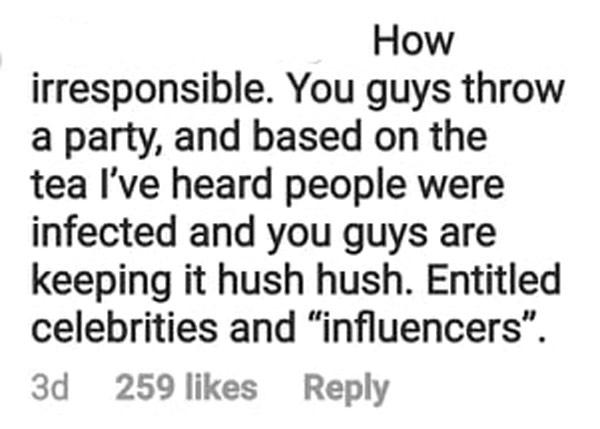 netizen calls tim yap and attendees irresponsible