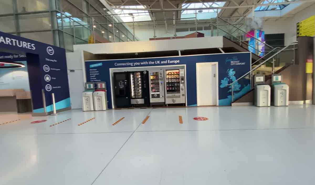 Glaiza de Castro posts photo of Belfast airport