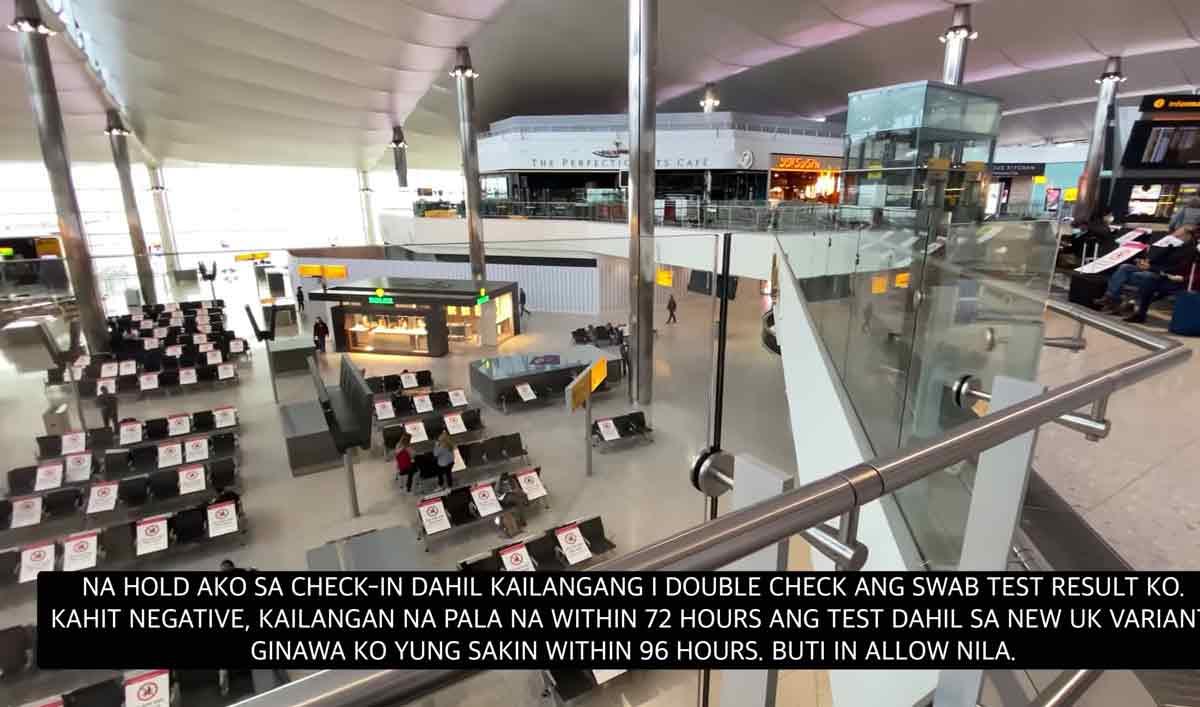 Glaiza posts photo of Heathrow Airport, London's international airport