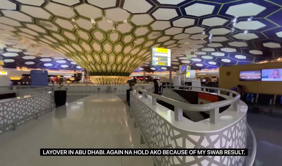 Glaiza layover in Abu Dhabi