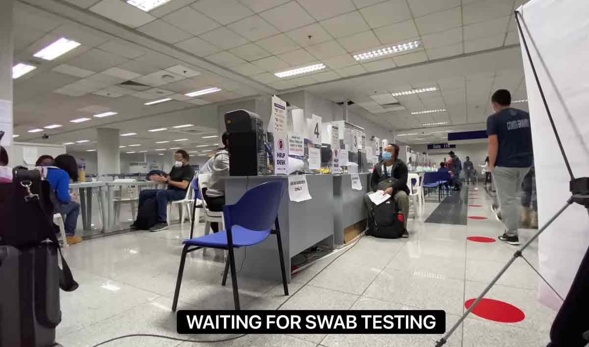 Glaiza de Castro undergo swab testing