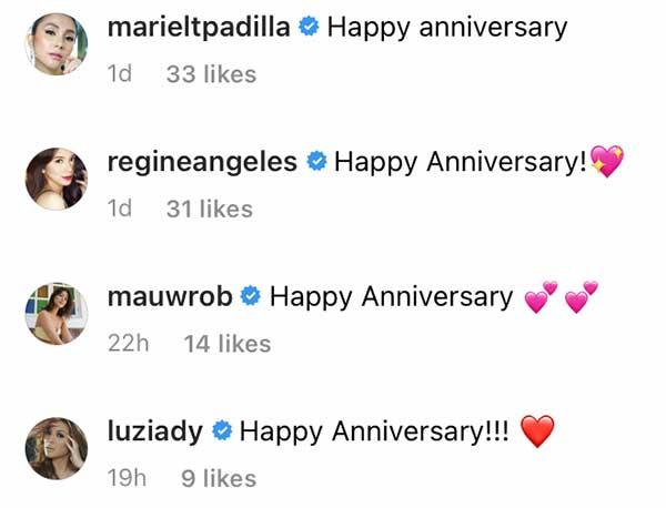 instagram comments of mariel padilla, regine angeles, maureen wroblewitz, danica Sotto