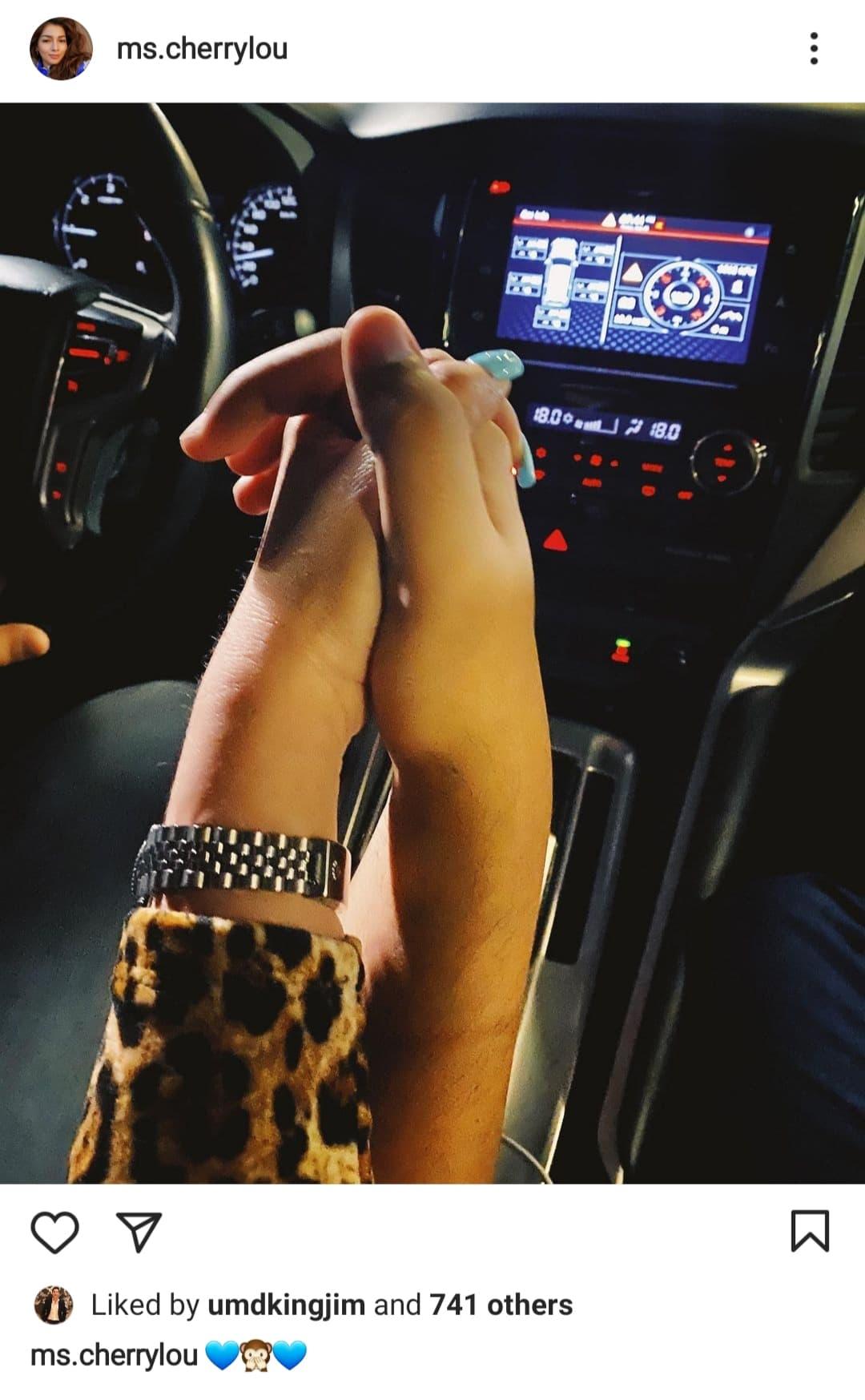 instagram photo: cherry lou and phytos ramirez holding hands