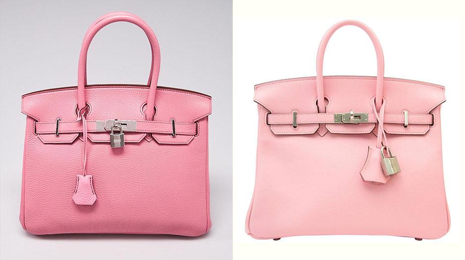 bubblegum pink hermes birkin; sakura pink hermes birkin