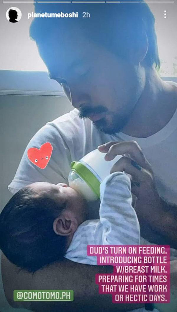 instagram story: Meryll Soriano posts photo of joem bascon with baby
