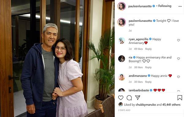 instagram photo: pauleen anniversary post for husband vic