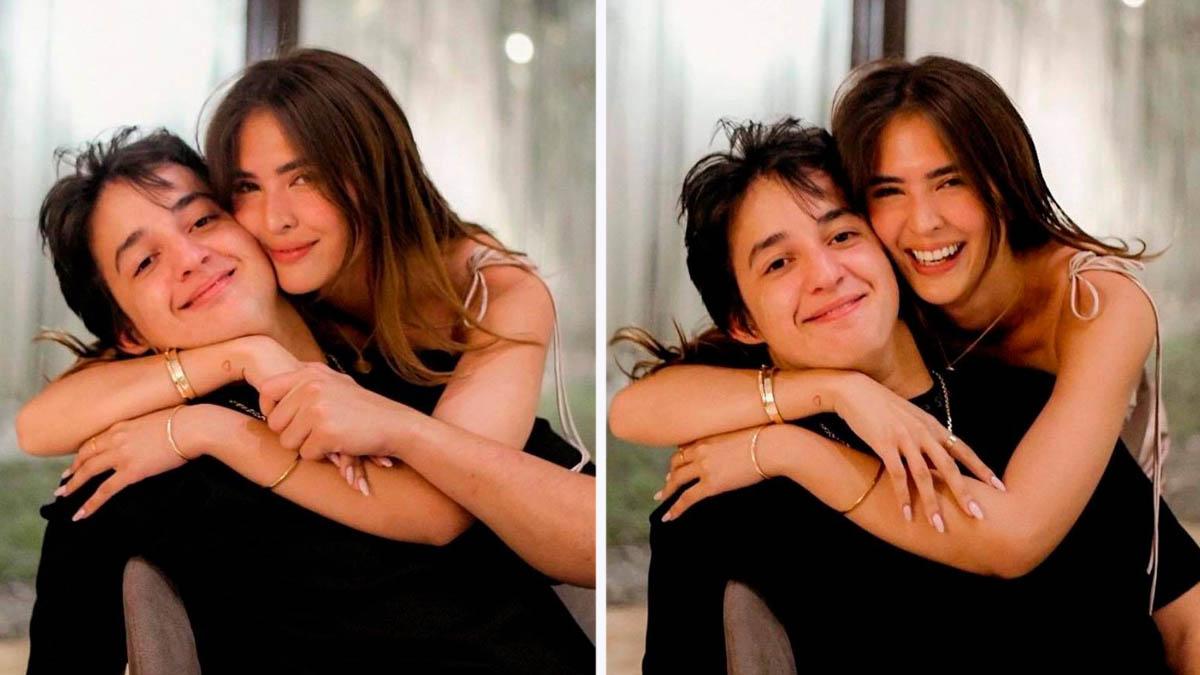 Sofia Andres Daniel Miranda hugging