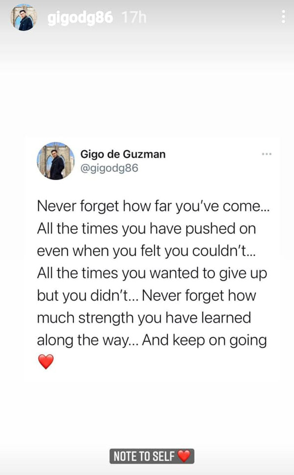 dacera case respondent gigo de guzman instagram story