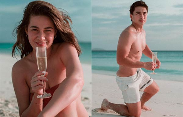 bea alonzo, dominic roque in amanpulo beach
