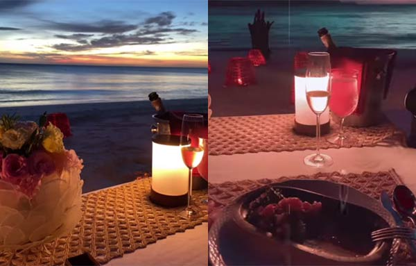 bea alonzo, dominic roque dinner by the beach instagram photos