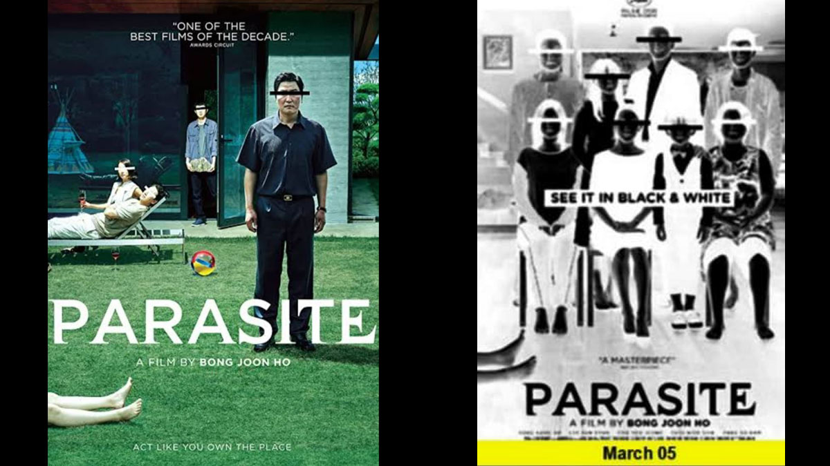 Parasite black and white copy