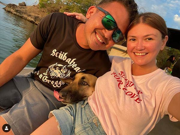 angelica panganiban, gregg homan and pet dog roxy