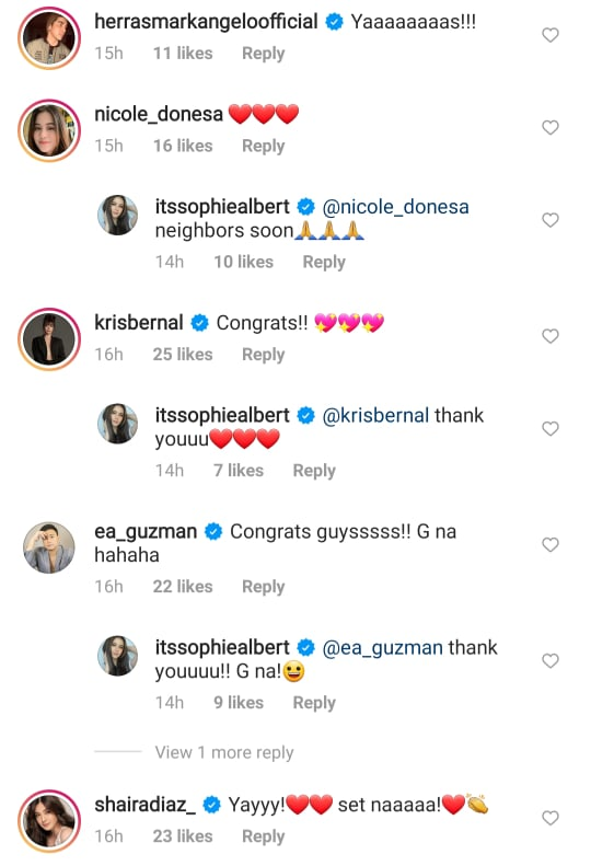celebrity friends of vin and sophie happy for the couple
