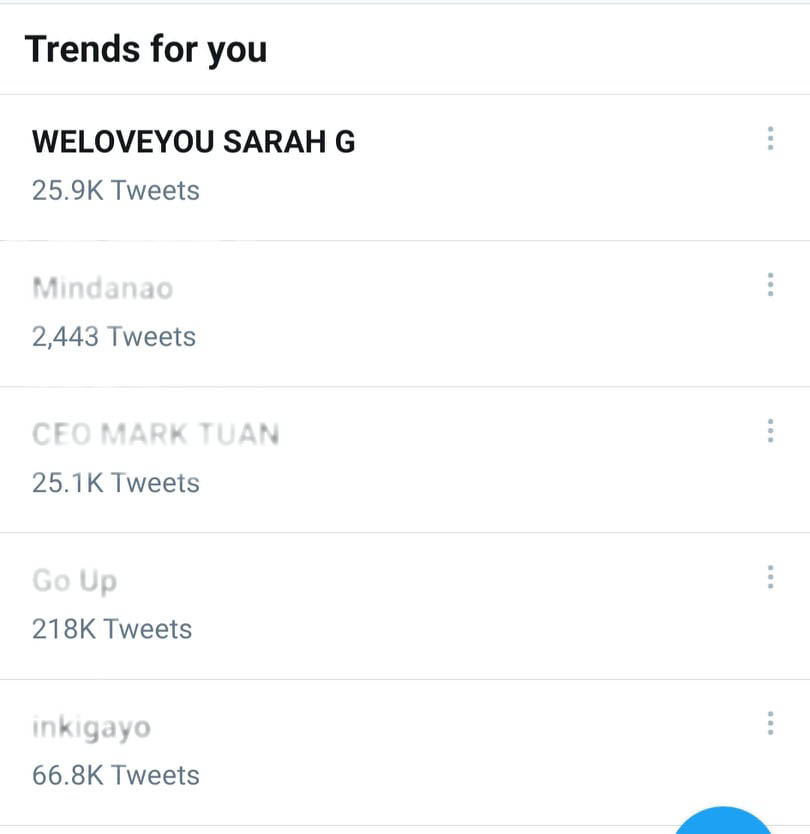 #weloveyou sarah g trends on twitter
