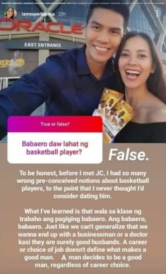 bianca gonzales with husband basketball player JC Intal