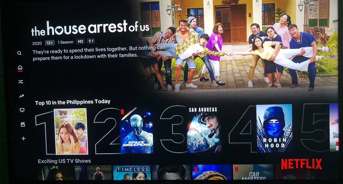 The House Arrest of Us in Netflix Top 10 in the Philippines Today