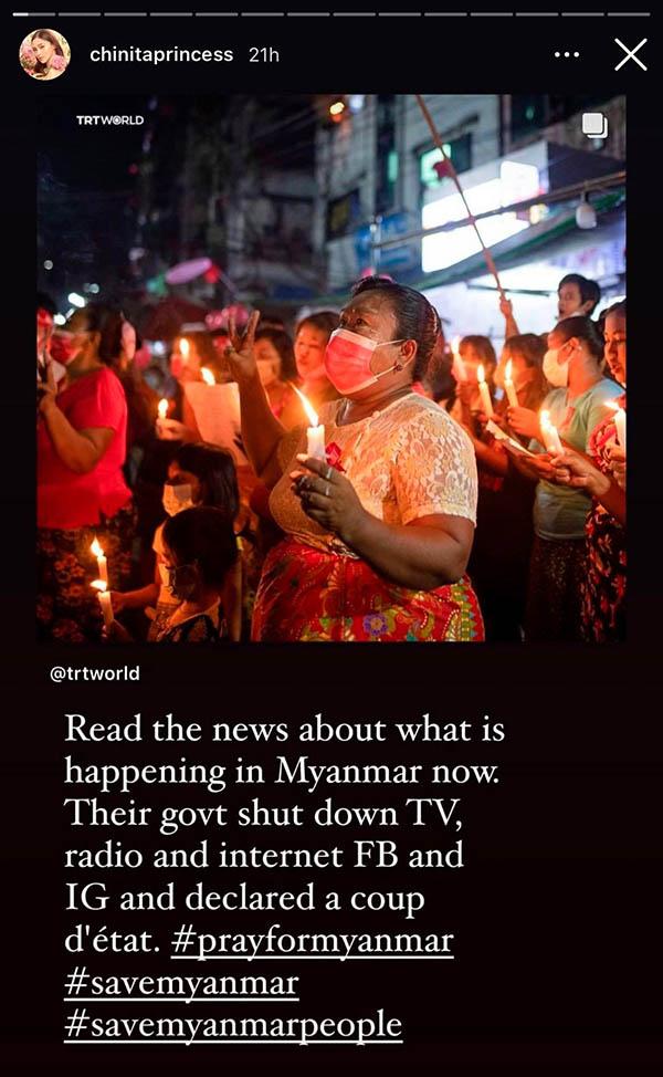 Kim Chui appeals prayers for Myanmar