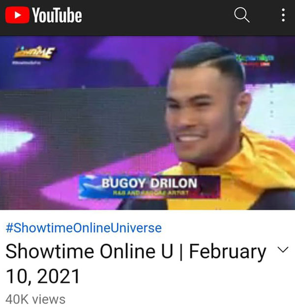 bugoy drilon as Celebrity Tagohula in It's Showtime