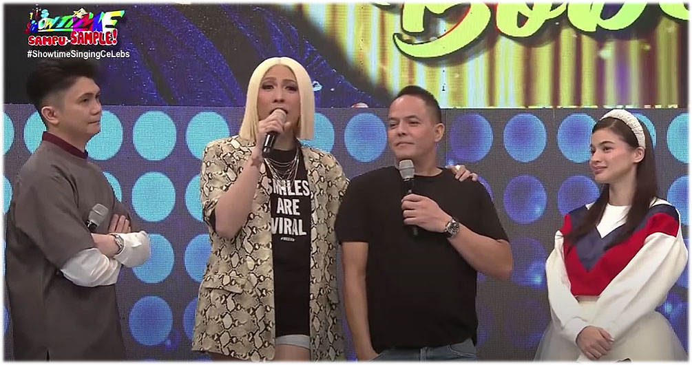 vhong navarro, vice ganda, direk bobet vidanes, anne curtis in It's Showtime