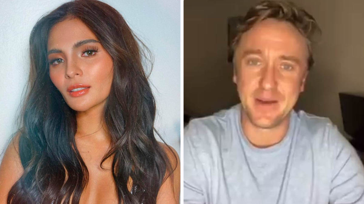 Lovi Poe Tom Felton birthday greeting