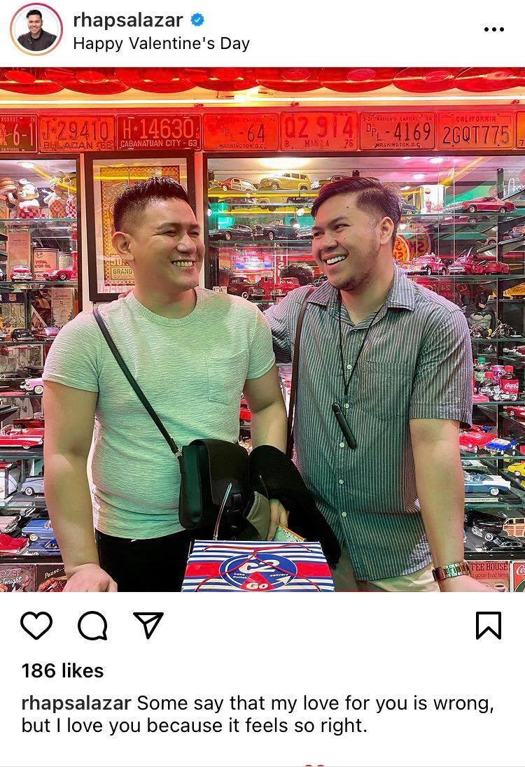 Rhap Salazar valentine's post for boyfriend Erwin