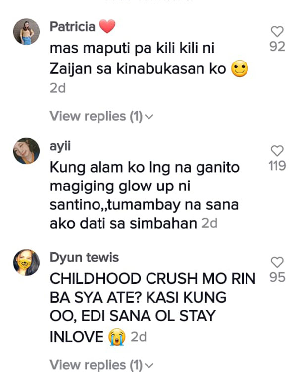 tiktok comment: netizens funny remarks on Zaijian Jaranilla and Dian Anes video
