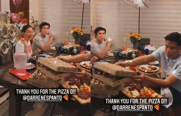 Darren Espanto sends pizza for Villarroel family; Cassy thanks Darren