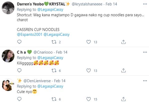 netizens bring back the cup noodles twitter exchange of CassRen
