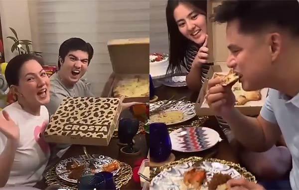 Carmina Villaroel posts video to thank Darren for the pizza