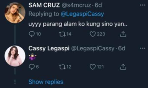 Sam Cruz hints that she knows what's going on; Cassy replies