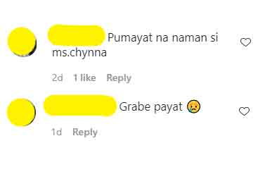 netizens comment on Chynna Ortaleza weight loss