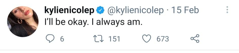 Kylie Padilla series of tweets