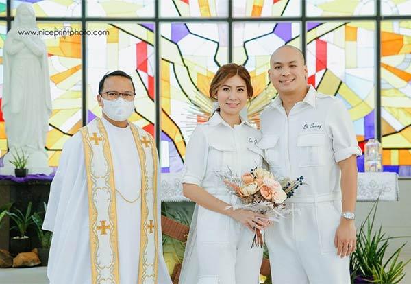 Dra. Ging Zamora, Dr. Sonny Abrahan wedding