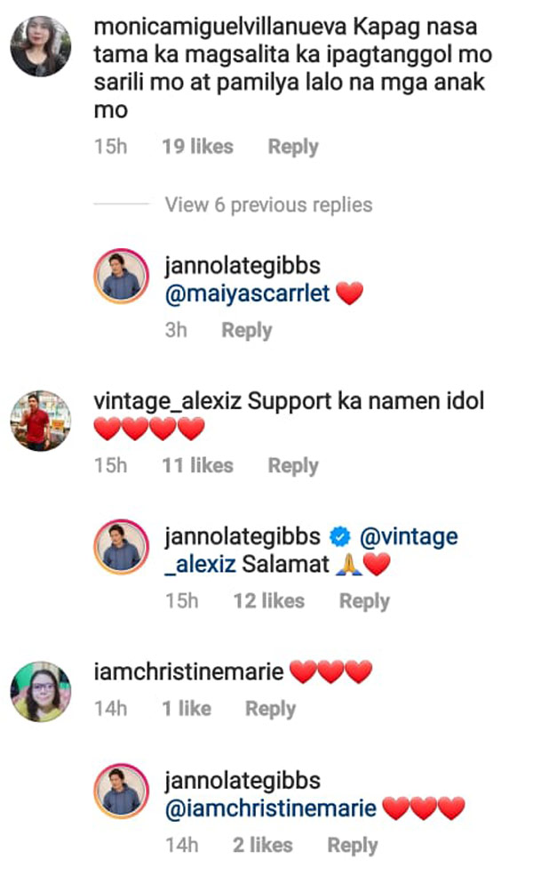 Netizens show support to Janno