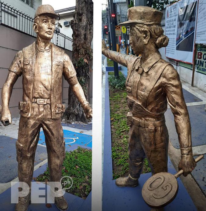 Bronze Statues in Doña M. Hemady Street