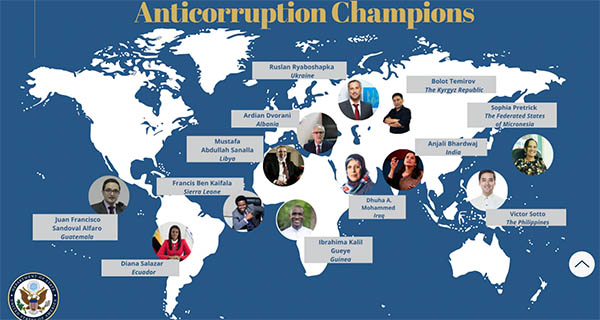 International Anticorruption Champions complete awardees