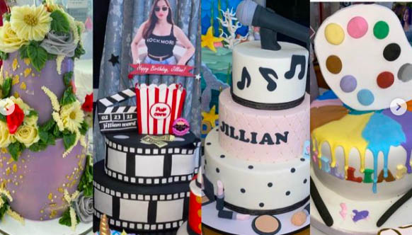 Various cakes for Jillian Ward's 16th birthday