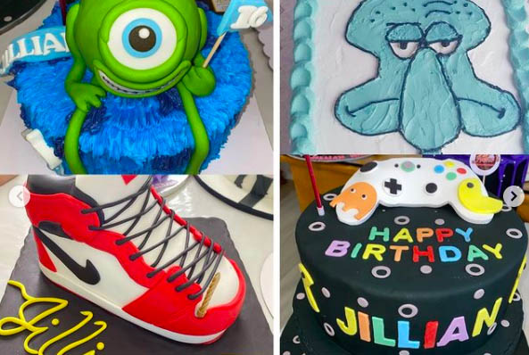 Jillian Ward cakes: Monsters Inc, Squidward inspired cakes