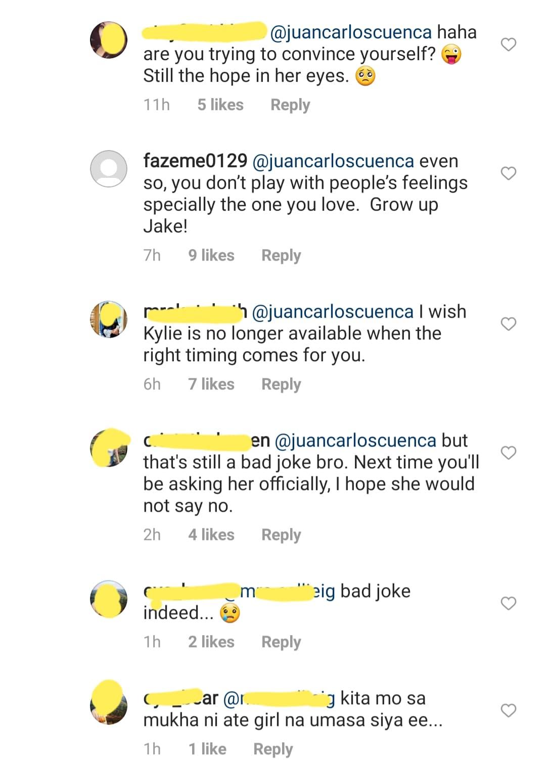 Netizens claim that Jake toyed Kylie feelings