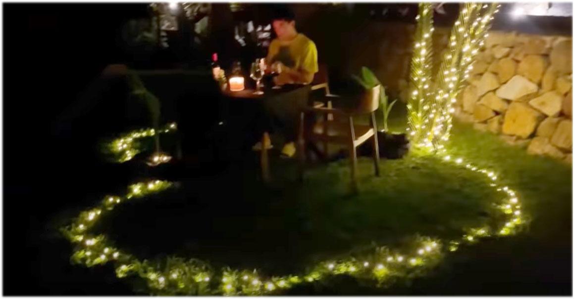 Instagram Video screengrab: candle-lit dinner prepared by Jake Cuenca for gf Kylie