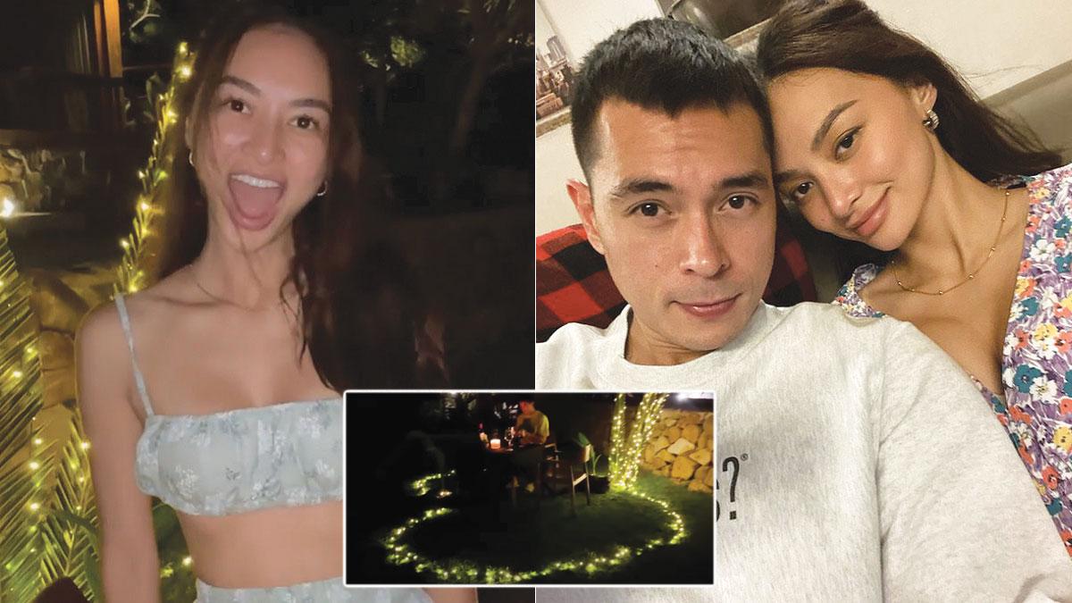 Jake Cuenca prank proposal to Kylie Verzosa