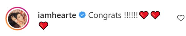Heart Evangelista reacts to Kaye Abad's instagram post