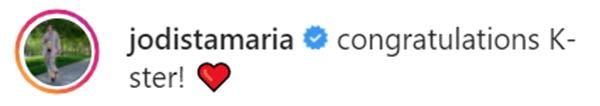 Jodi Sta. Maria reacts to Kaye Abad's instagram post